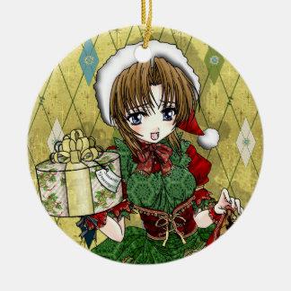 Fille de cadeau d Anime Ornement