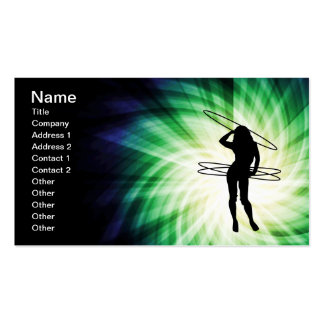 Fille de cercle de danse polynésienne ; Cool Carte De Visite Standard