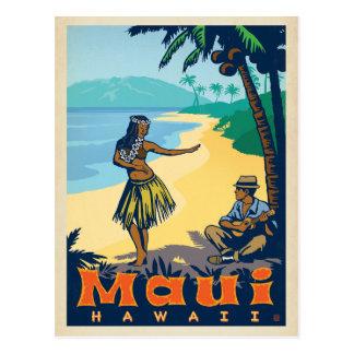 Fille de danse polynésienne de Maui, Hawaï   et Cartes Postales