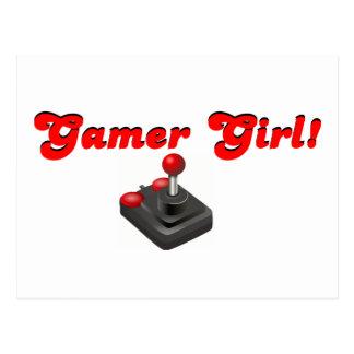 Fille de Gamer Carte Postale