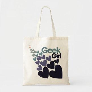 Fille de geek sac en toile budget