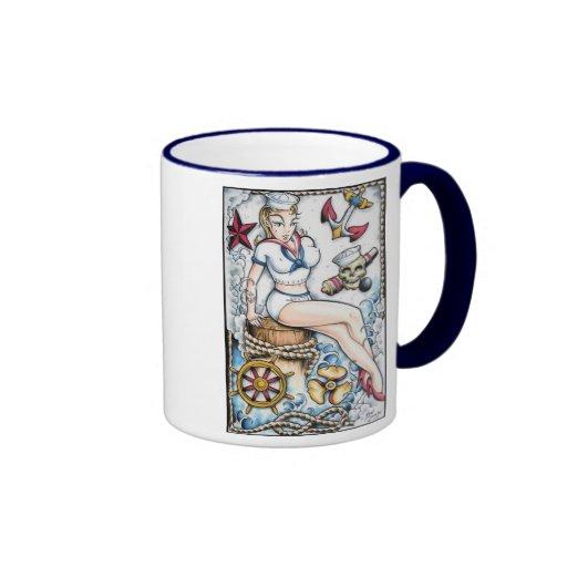 Fille de marin tasse à café