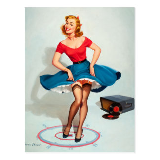 Fille de Pin- de danse ; Art de pin-up vintage Carte Postale