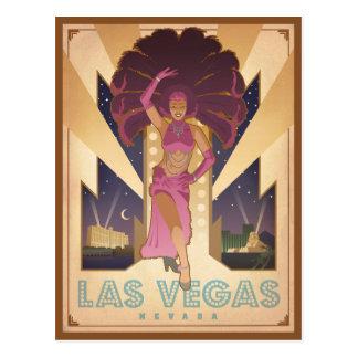 Fille de scène de Las Vegas, Nevada | Carte Postale