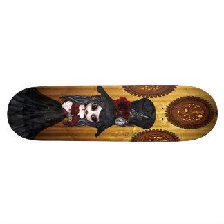 Fille de Steampunk Goth et planche à roulettes mig Planches À Roulettes Customisées