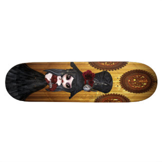 Fille de Steampunk Goth et planche à roulettes mig Plateau De Skate