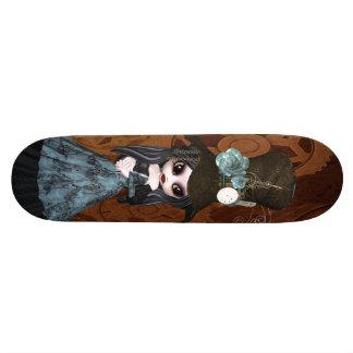 Fille de Steampunk Goth et planche à roulettes mig Skateboard 20 Cm