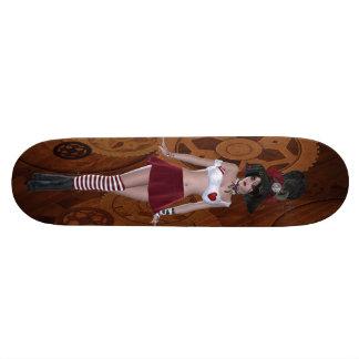 Fille de Steampunk Goth et planche à roulettes Planche À Roulette