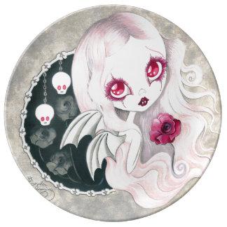 """Fille de vampire : """"Arabella """" Assiettes En Porcelaine"""