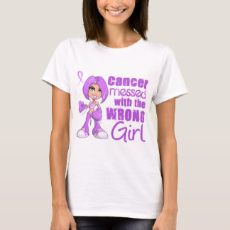 Fille de With Wrong du Général Cancer Messed T-shirt