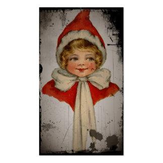 Fille d'Elf dans un cap rouge Carte De Visite Standard