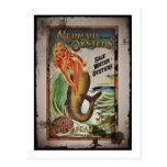 Fille d'huître de sirène carte postale