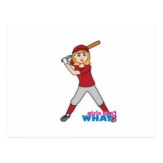 Fille du base-ball cartes postales