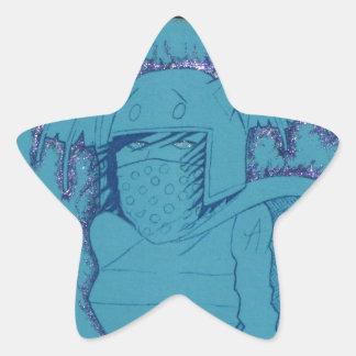 Fille flamboyante de fantôme sticker étoile
