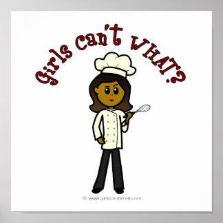 Fille foncée de chef poster