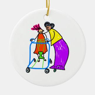 Fille handicapée décorations pour sapins de noël