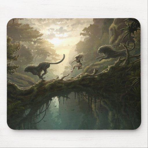 Fille Mousepad de forêt Tapis De Souris