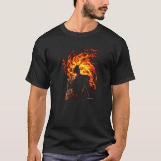 Fille originale de flamme t-shirt