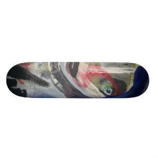 Fille triste de Goth Plateaux De Skateboards