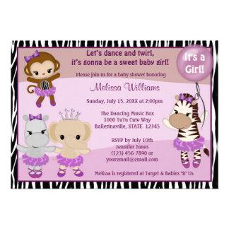 FILLE TTC2 de SINGE mignonne d invitation de baby