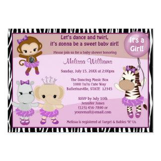 FILLE TTC2 de SINGE mignonne d'invitation de baby