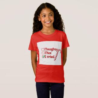 fille vilaine de T-shirt