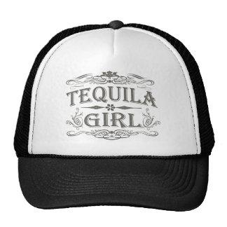 Fille vintage de tequila casquette de camionneur