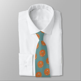 Filled Bagel - Choose Background Color - Novelty Tie