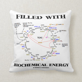 Filled With Biochemical Energy (Krebs Cycle) Throw Pillow
