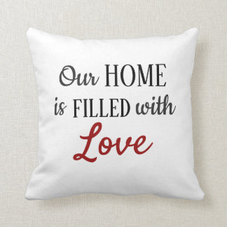 Filled with Love Throw Pillow - Redeemed by Love