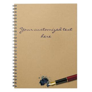 Filler Fountain Pen with Ink Blot - Notebook