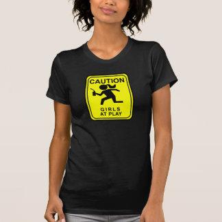 Filles de précaution au jeu - torche t-shirts