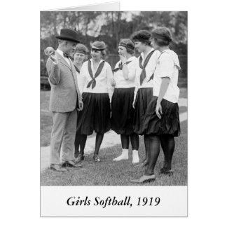 Filles Softball, 1919 Carte De Vœux