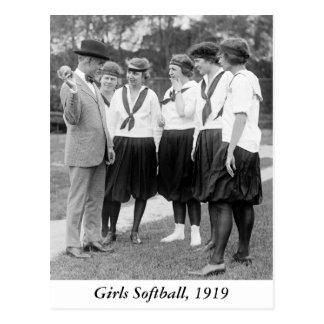 Filles Softball, 1919 Carte Postale
