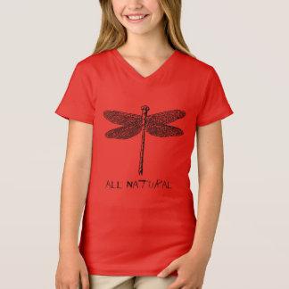 Filles toutes T-shirt naturel de mouche de dragon
