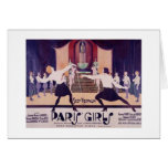 Filles vintages de Paris clôturant la carte de not