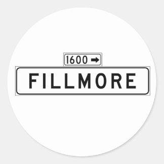 Fillmore St., San Francisco Street Sign Classic Round Sticker