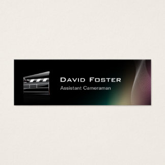 Film Assistant Cameraman Director Mini Business Card