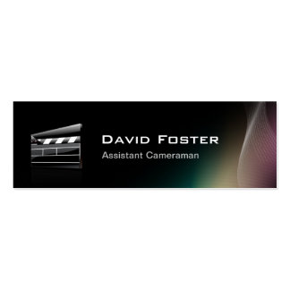 Film Assistant Cameraman Director Pack Of Skinny Business Cards