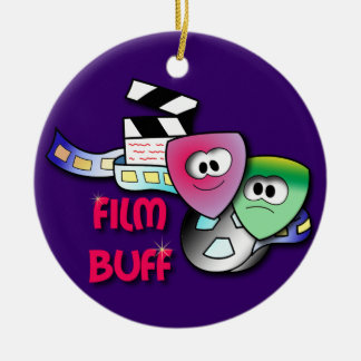 Film Buff Ceramic Ornament