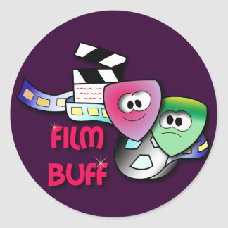 Film Buff Classic Round Sticker