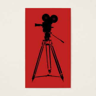 Film Camera Man Red Business Card