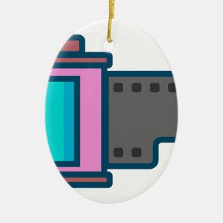 Film Canister Ceramic Ornament