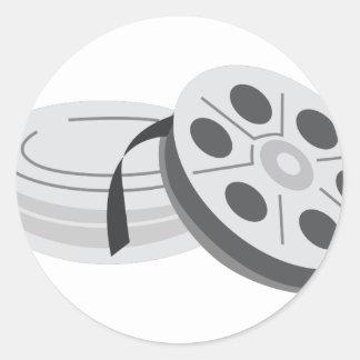 Film Cans Round Sticker