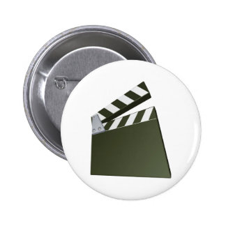 Film clapperboard pinback buttons