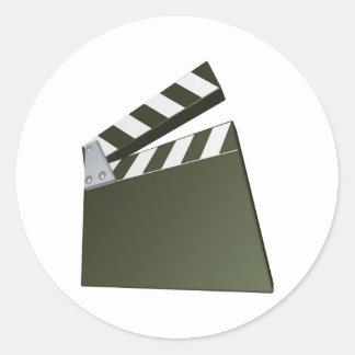 Film clapperboard sticker