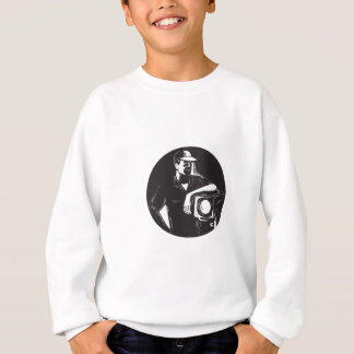 Film Crew Lighting Fresnel Spotlight Circle Woodcu Sweatshirt