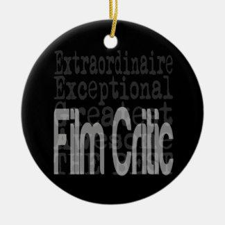 Film Critic Extraordinaire Ceramic Ornament