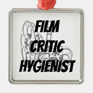 Film Critic Hygienist Metal Ornament