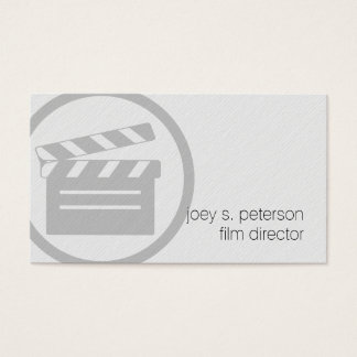 Film Director Clapperboard Icon Film Photography Business Card